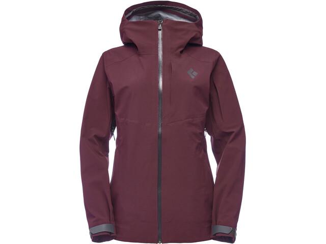 Black Diamond Recon Stretch Ski Shell Jacket Women Bordeaux